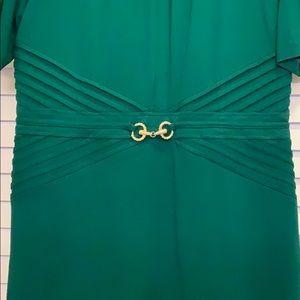 Ellen Tracy Dresses - Emerald Green Half Sleeve Sheath
